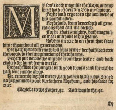 Magnificat from 1559 Book of Common Prayer